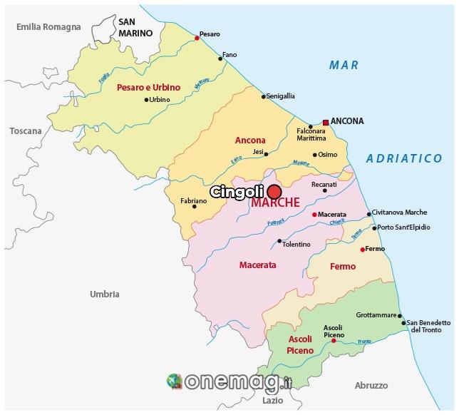 Mappa di Cingoli
