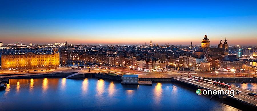 Amsterdam, veduta notturna