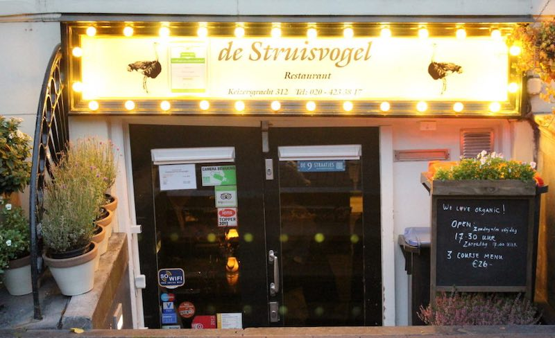 Amsterdam, ristorante De Struisvogel