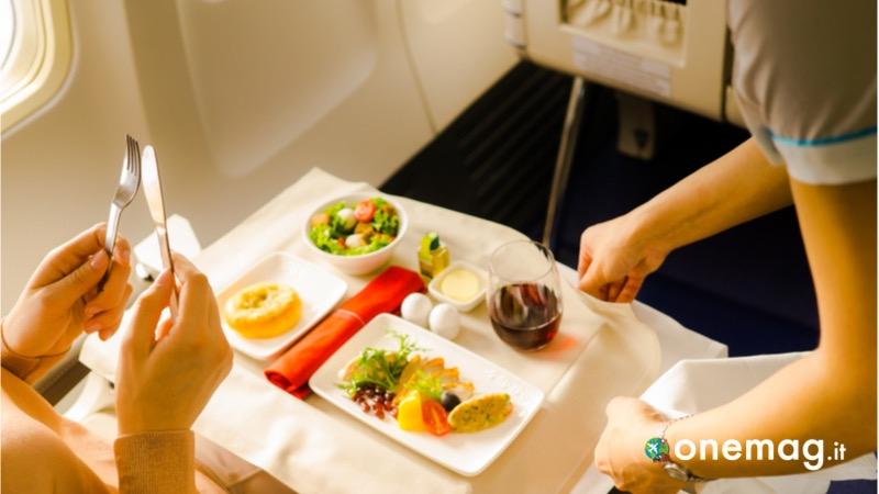 Mangiare durante il volo
