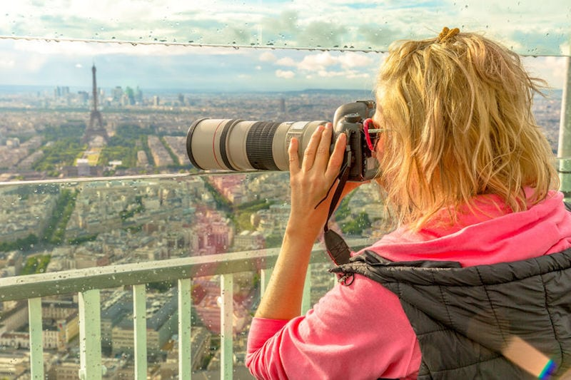 Vedere la Tour Eiffel dal Tour Montparnasse