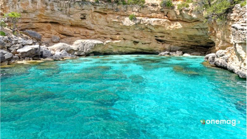 la spiaggia di Baunei, Sardegna