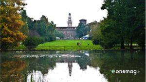 Milano, Castello Sforzesco visto da Parco Sempione