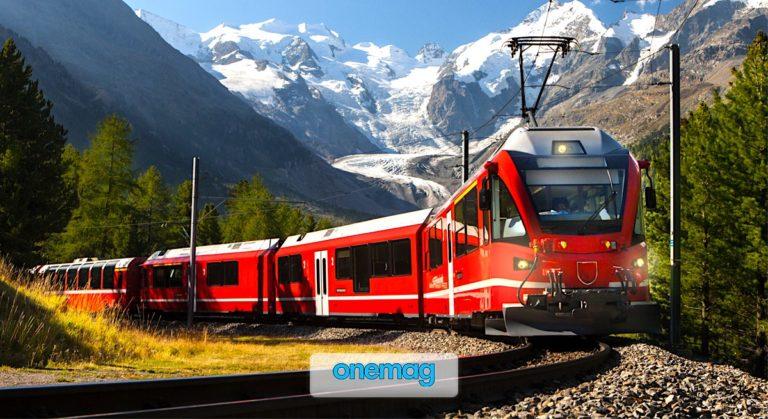 Viaggio a bordo del trenino Rosso del Bernina