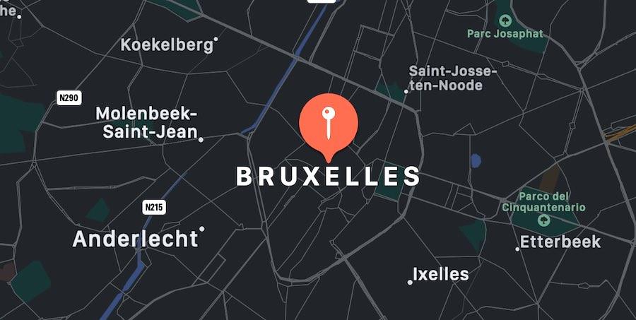 Cosa vedere a Bruxelles, mappa