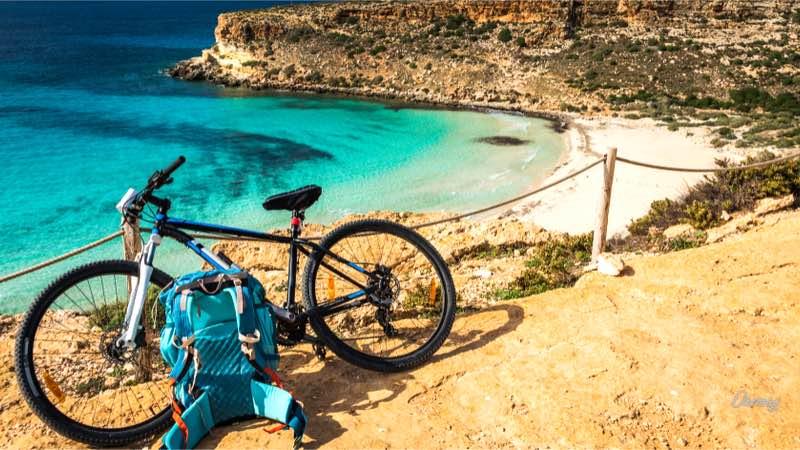 Lampedusa, bicicletta