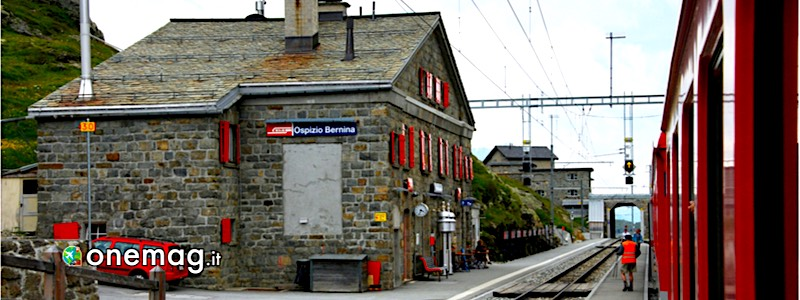 Ospizio Bernina, la stazione