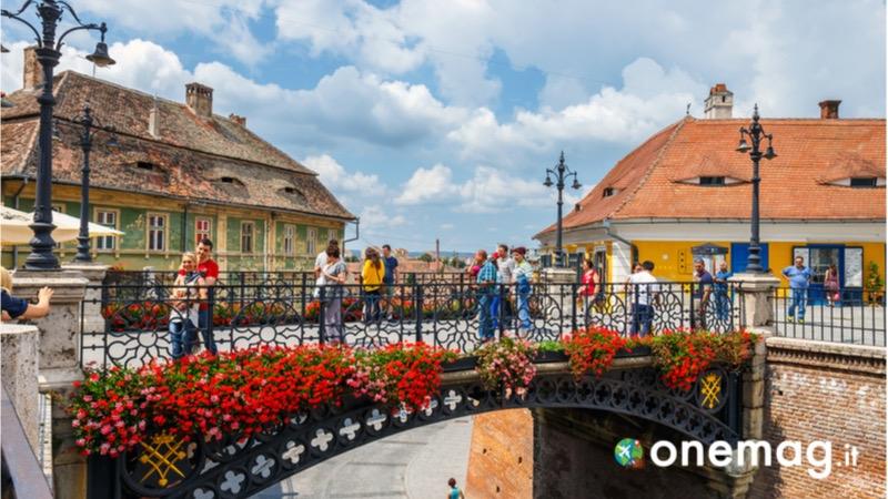 Il centro città di Sibiu