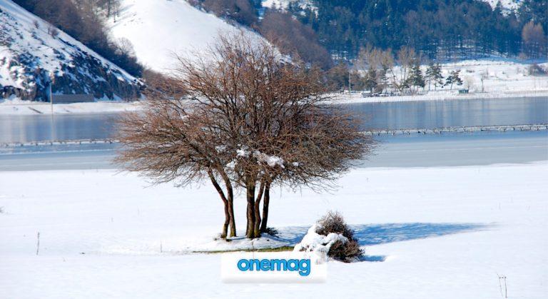 Lago di Laceno, una pista sciistica di fronte al mare