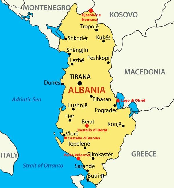 I luoghi meno conoscuti dell'Albania