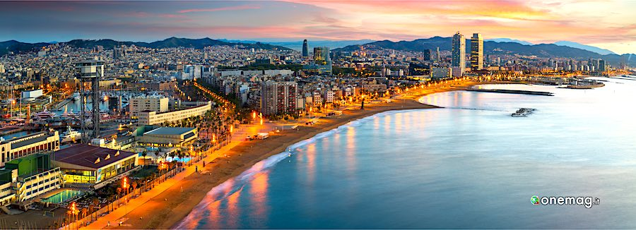 Barcellona, veduta notturna
