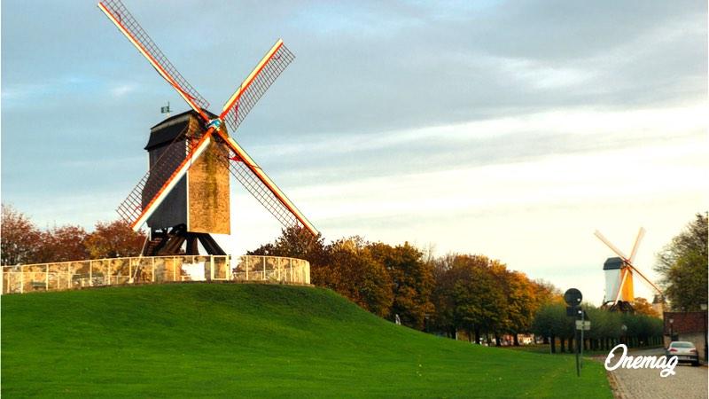 Cosa vedere a Bruges, mulini a vento