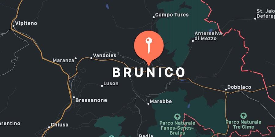Cosa vedere a Brunico, mappa