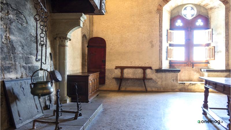 Cosa vedere nel Castello di Chillon, sala da pranzo
