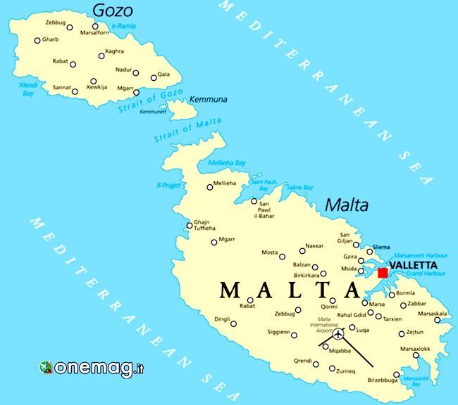 Cosa vedere a Gozo, la mappa di Malta e Gozo