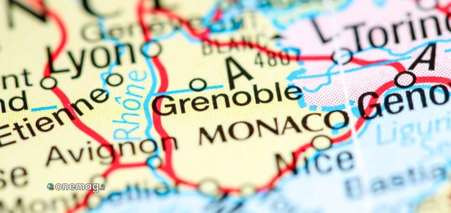 Cosa vedere a Grenoble, mappa