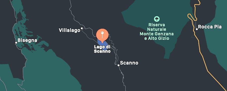 Lago di Scanno, mappa