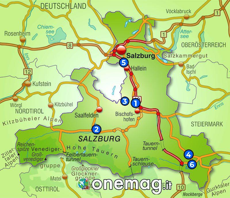 Mappa Castelli Salisburgo