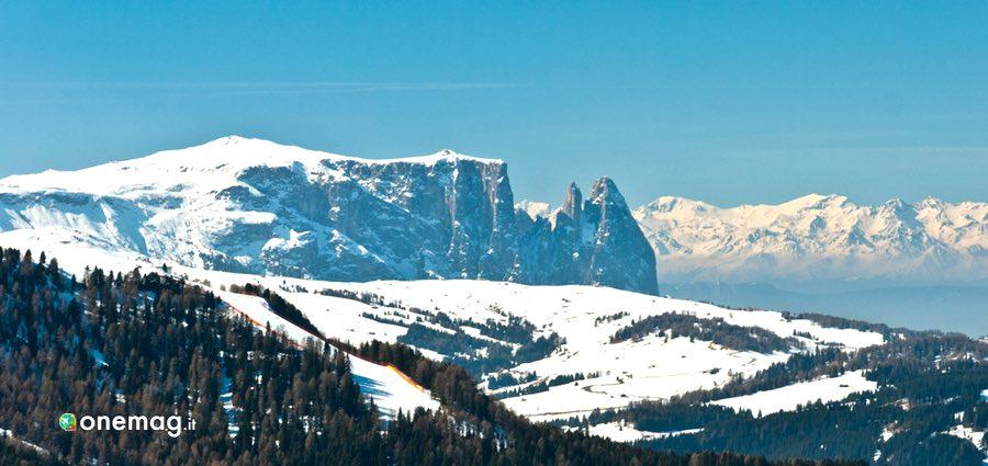 Cosa vedere a Ortisei, veduta con neve