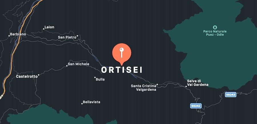 Cosa vedere a Ortisei, mappa