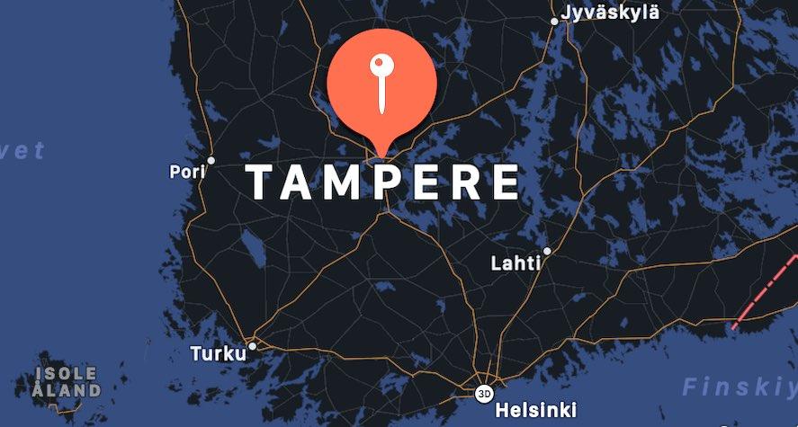 Cosa vedere a Tampere, mappa