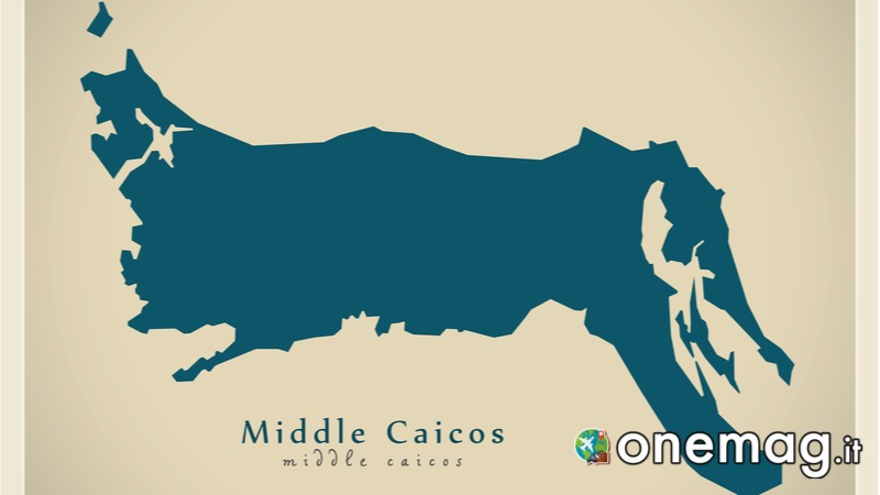 Middle Caicos, mappa