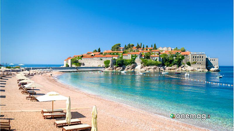 Sveti Stefan, spiaggia