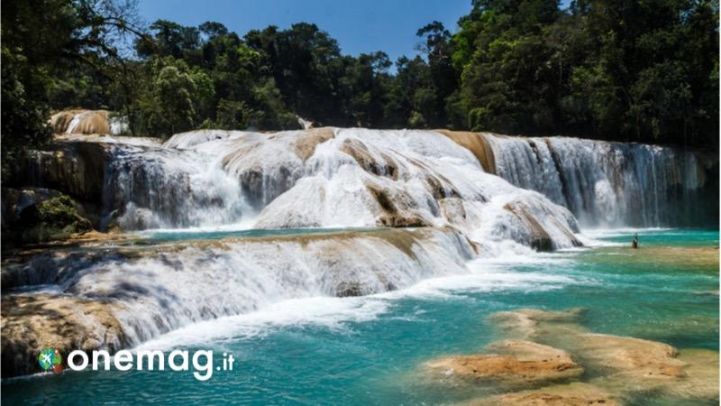 Le cascate più belle del Messico, la cascata Agua Azul