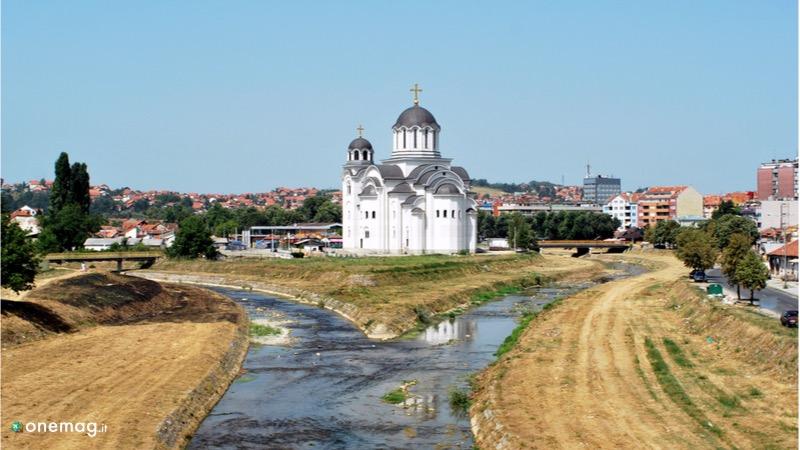 La vecchia chiesa di Valjevo in Serbia