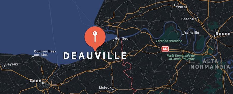 Cosa vedere a Deauville, mappa
