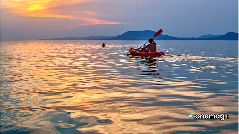 Lago Balaton, canoa