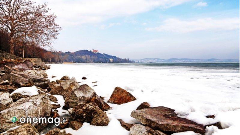 Lago Balaton in inverno
