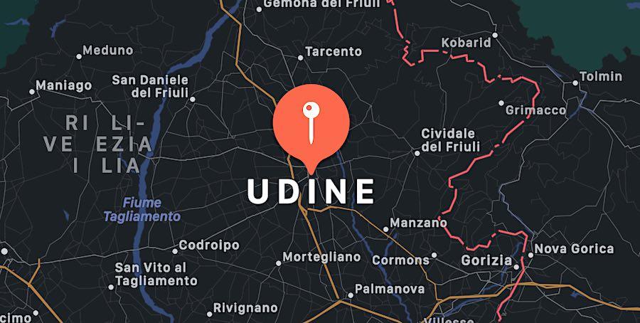 Cosa vedere a Udine, mappa