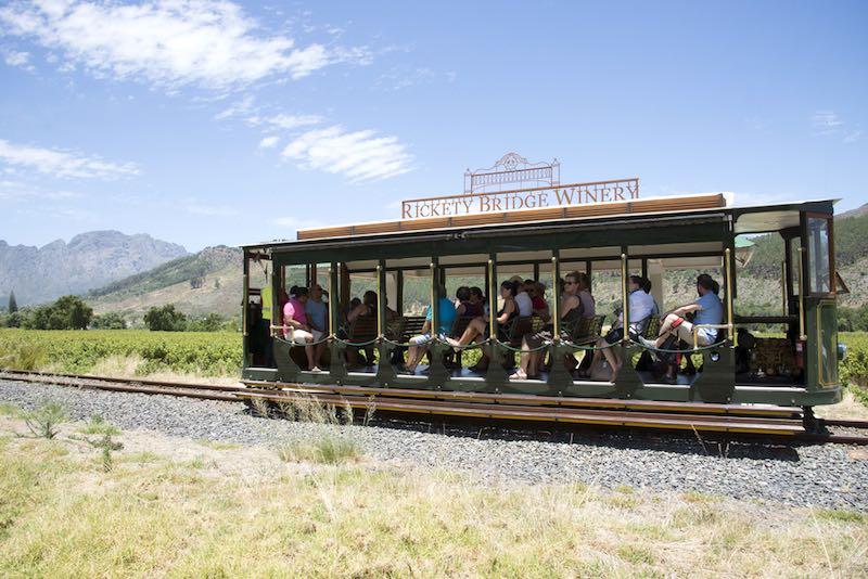 Sudafrica, Franschhoek tram vino