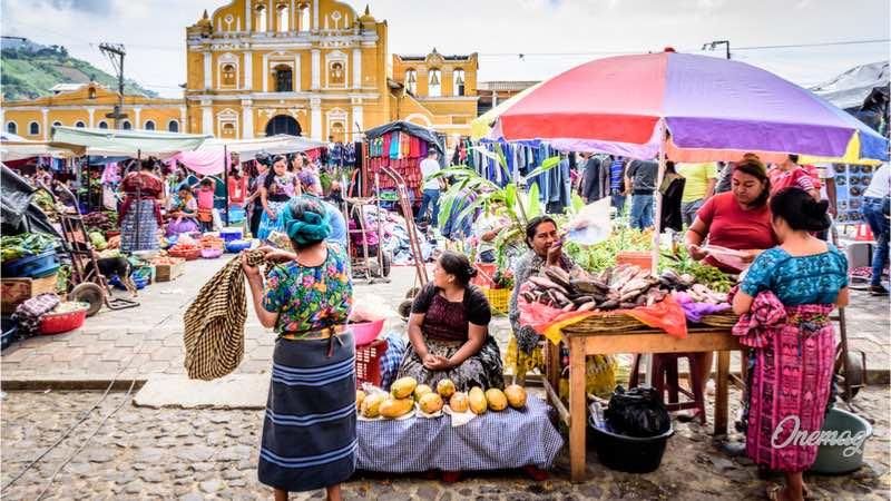 Antigua, il mercato