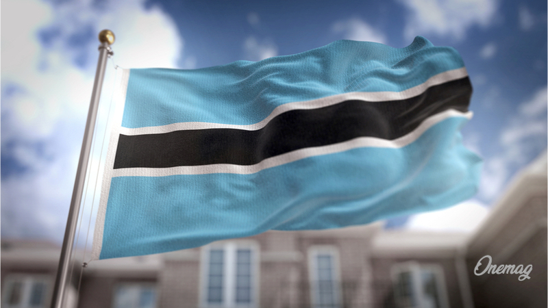 Guida al Botswana, bandiera