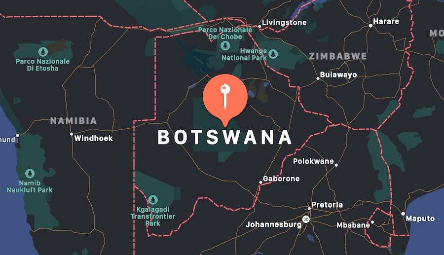 Guida del Botswana, mappa