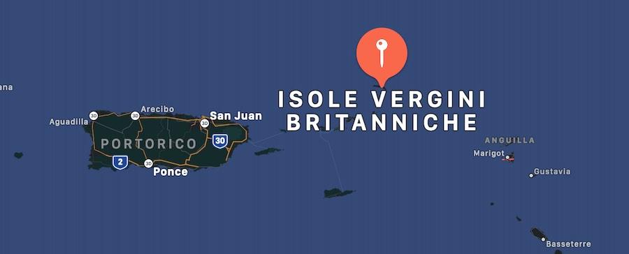 Isole Vergini Britanniche, mappa
