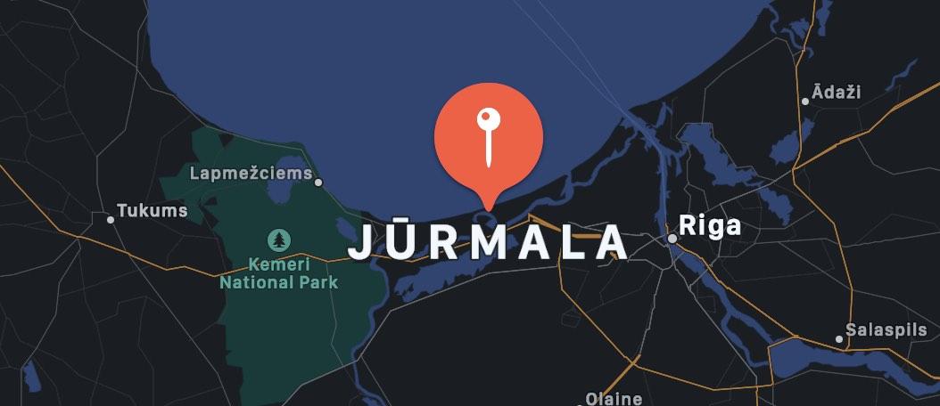 Cosa vedere a Jurmala, mappa