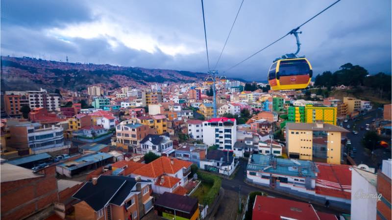 La Paz, la funivia