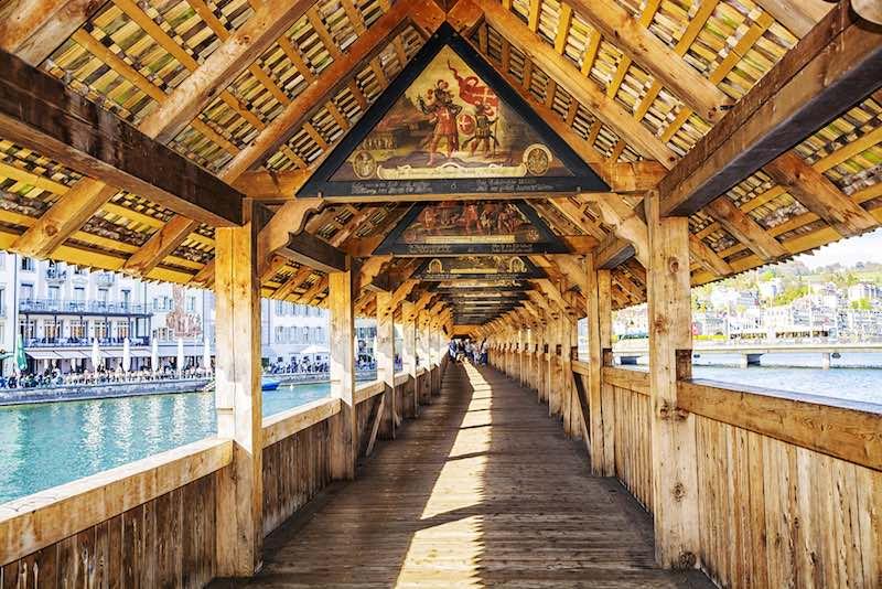 Lucerna, Kapellbrücke, tavole pittoriche