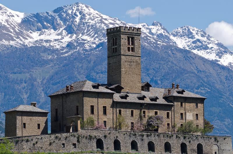 Sarre, il castello medievale