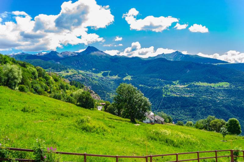Piccola località turistica di Torgnon