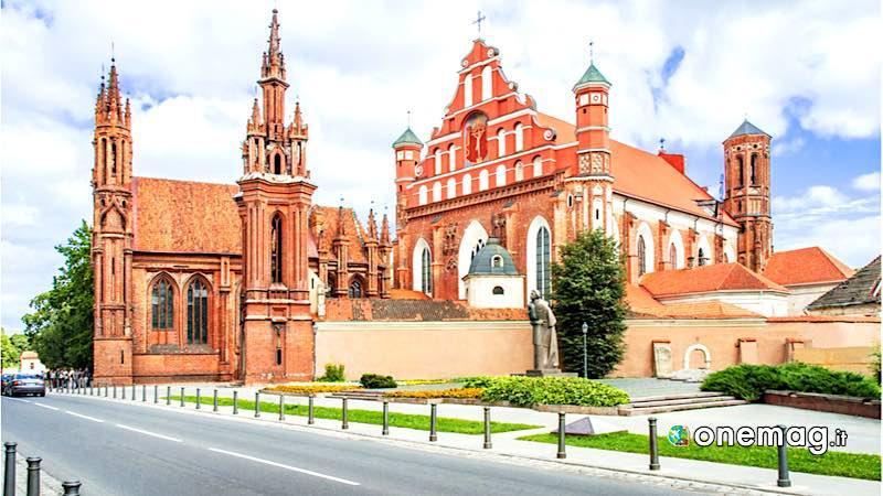 Vilnius, la Chiesa di Sant'Anna