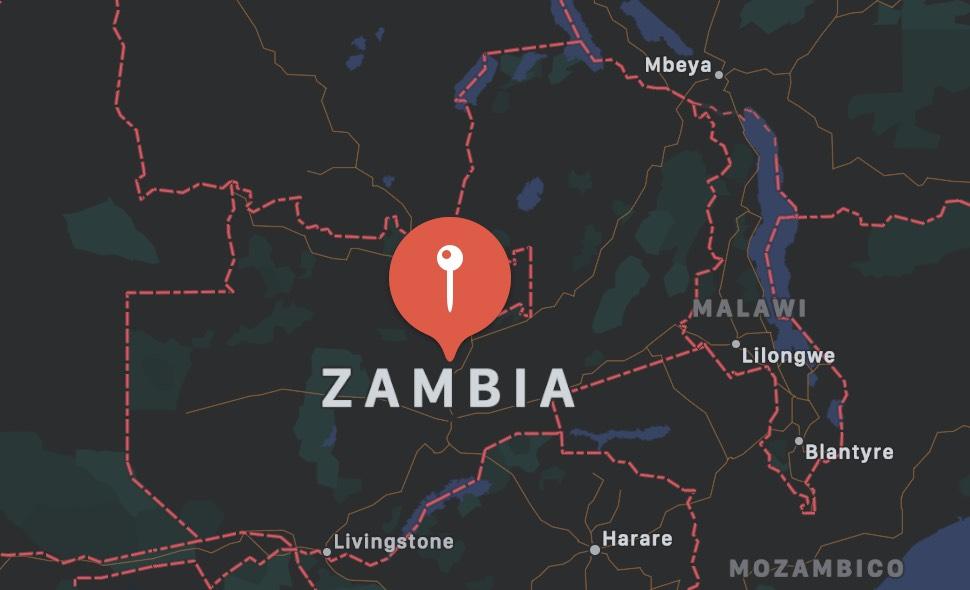 Cosa vedere nello Zambia, mappa
