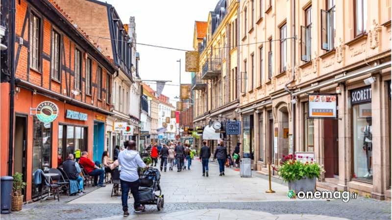 Helsingborg, via del centro storico