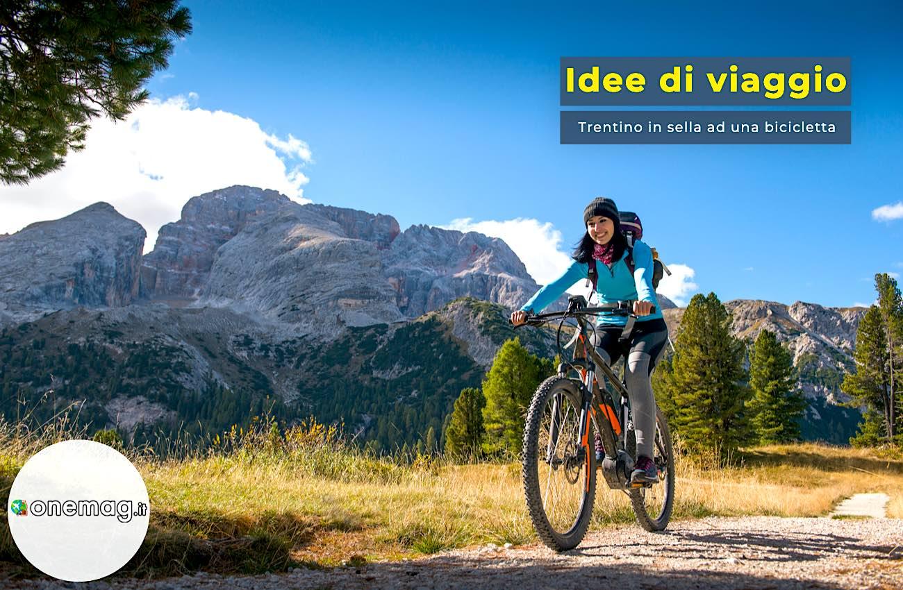 Trentino in sella ad una bicicletta