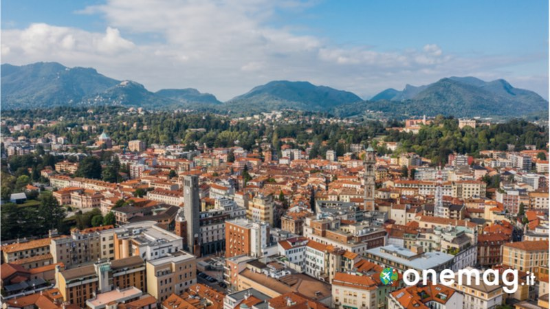 Visuale dall'alto su Varese