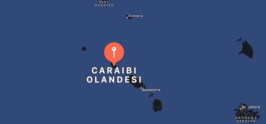 Cosa vedere ai Caraibi Olandesi, mappa