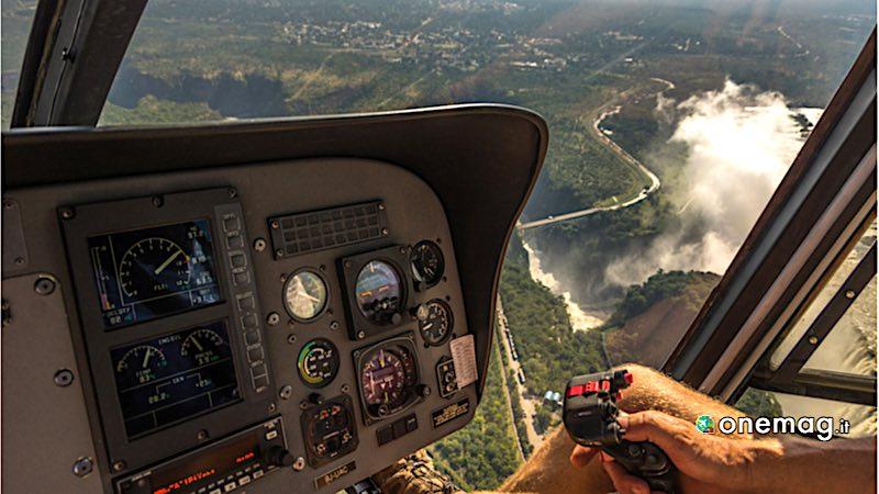 Cascate Vittoria, elicottero